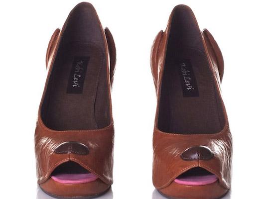 коричневые туфли-собачки Коби Леви
