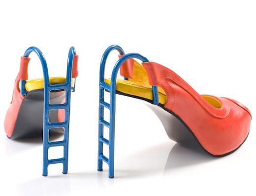 босоножки с каблуком-лестницей Коби Леви