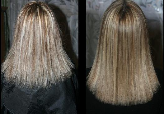 что такое ламинирование волос фото до и после