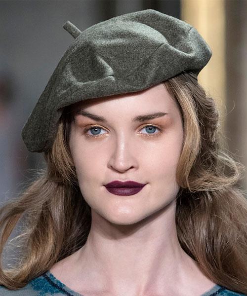 виды женских шапок серый берет