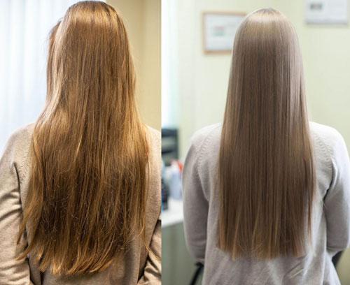 эффект от кератиновоого восстановления  волос