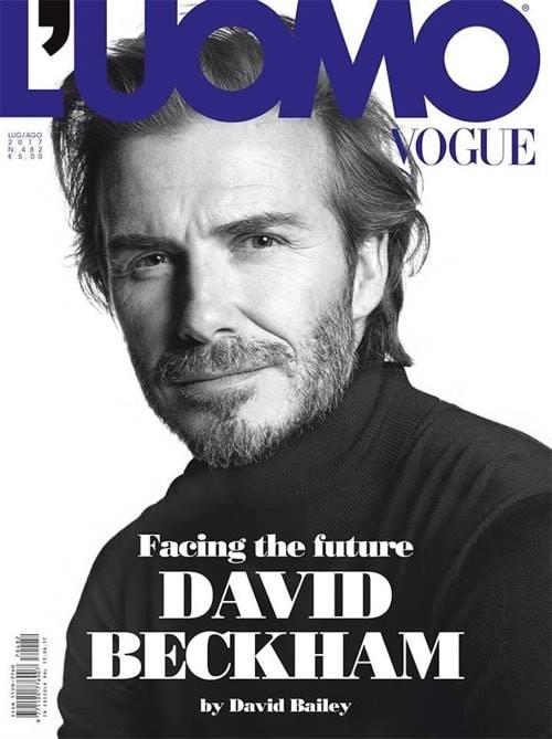 Девид Бекхэм на обложке жунала Vogue