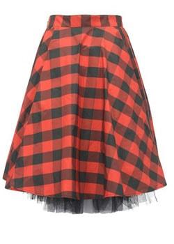 красная широкая юбка купить