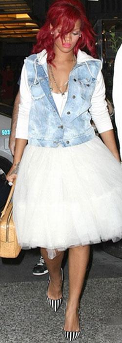 юбка-пачка с джинсовой курткой Рианна