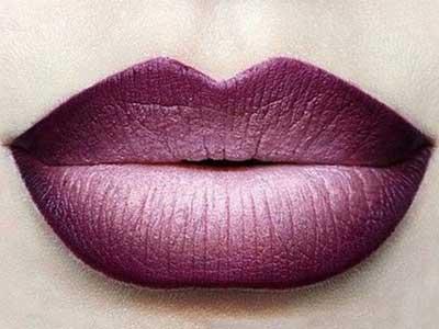 макияж губ омбре горизонтальный градиент