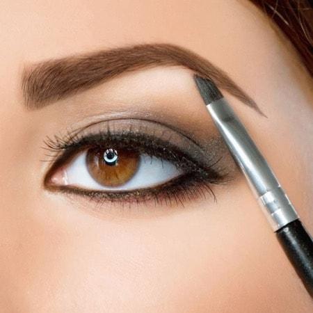 как применять в макияже тени для бровей