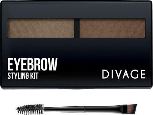 тени для бровей divage eyebrow styling kit