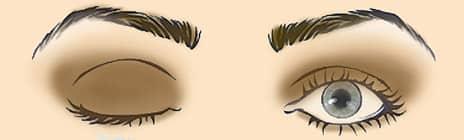 Большие выпуклые глаза схема макияжа